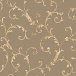 Italian Style Wallpaper Acanthus Scroll Bronze 20592 By Sirpi For Muriva